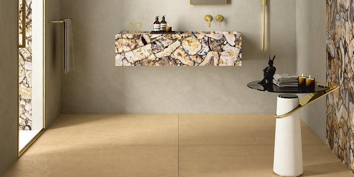 Pavimenti e rivestimenti effetto monocromatico - Colorare piastrelle bagno ...