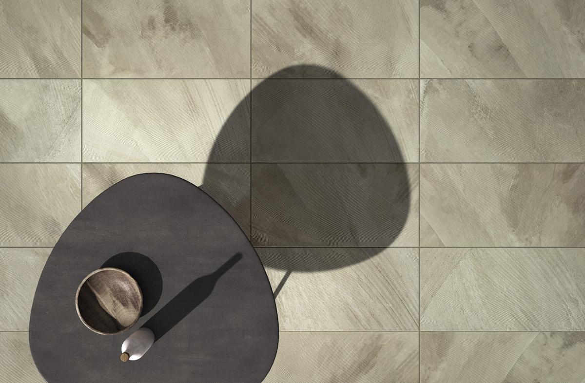 Piastrelle grigie effetto cemento in gres porcellanato fahrenheit