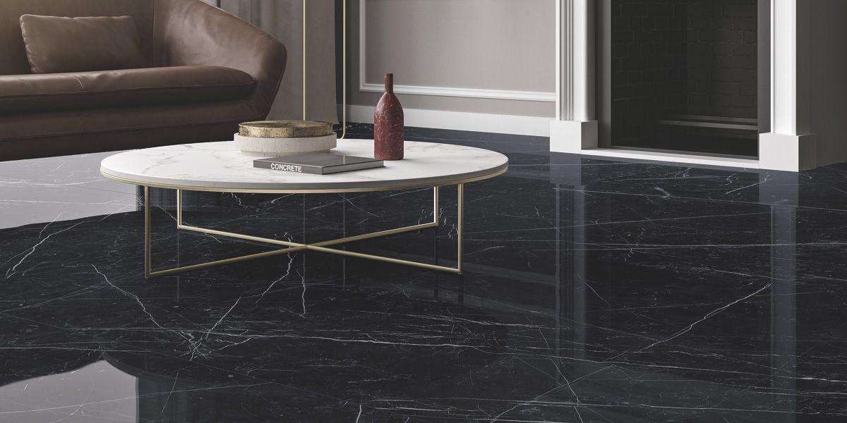 Dark marquina marmi maximum pavimenti e rivestimenti for Pavimento marmo bianco e nero