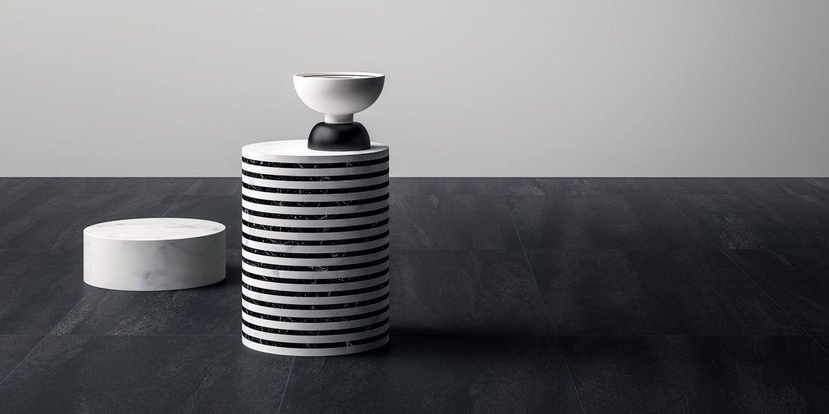 Piastrelle in gres porcellanato nero neo black neo genesis - Posa piastrelle 120x60 ...