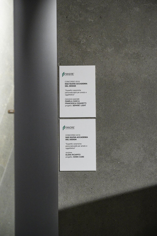 Nuova Accademia Del Design i progetti vincitori del concorso nad-fiandre in esposizione